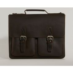Brown leather mens bag - awesome computerbag for men that only gets better when using it!  Brown Leonhard Heyden Briefcase Computerbag