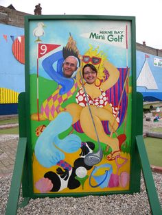 Carnival Cutout British Seaside Saucy Postcard By Whitletails 600 00 Face Cut Out Amazing