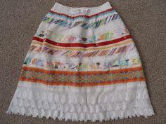 Girls The Childrens Place Multi-coloured Crochet Hem Skirt, Size 4