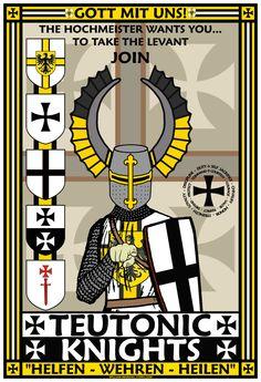 Teutonic Knights Recruitment Poster