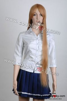 Brown Gold Cosplay Wig *Super Long 100cm Wigs