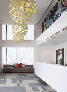 David Trubridge CORAL Lights At Brookshire Suites Inner Harbor Hotel In  Maryland. #lighting #