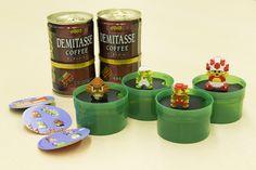 ドット絵の「スーパーマリオ」フィギュアが付属する缶コーヒー 数量限定で発売