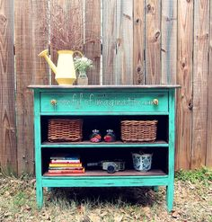 I want to do something like this to hold my ScrapRack. I have an ugly 3 drawer dresser, too. Hometalk | Recycled Dresser Into a Fun Piece