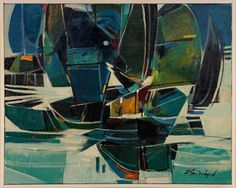 Lot: Roger San Miguel (B. 1940) Sailboats, Lot Number: 0129, Starting Bid: $100, Auctioneer: Concierge Estate Sale Services LLC , Auction: Asian and French Fine Art Auction , Date: October 3rd, 2017 PDT
