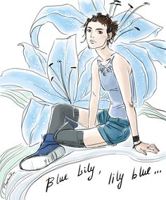 "Blue lily (""the Raven Cycle"" by Maggie Stiefvater)"