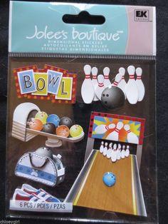 Jolee's Boutique Dimensional Stickers EK Success BOWLING TIME