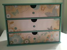 Kaisercraft 3-drawer storage unit covered with Elegance papers