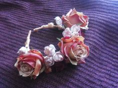 #roses #crown by Cristina Biella ( www.facebook.com/elanorsoulcreativity ) #headdress #headpiece #blossoms #wandering_tales