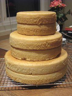 Bakes nice and even, texture similar to a lemon pound cake, stacks well. Birthday Cake Decorating, Cake Decorating Tips, Vanilla Butter Cake Recipe, Lemon Butter, 3 Tier Birthday Cake, 3 Tier Cake, Cake Pan Sizes, 10 Inch Cake, Cake Design