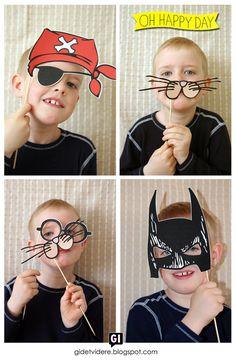 DIY photobooth for kids birthday