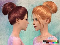 The Sims Resource: Skysims Hair 111 • Sims 4 Downloads