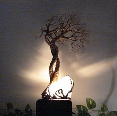 Wire Tree Of Life sculpture Soul Mate Wind Trees by CrowsFeathers sold
