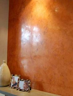 Venetian Plaster ~ Client wanted a slightly chunky, different version. (Garay Artisans) - one accent wall would be a nice touch Faux Paint Finishes, Wall Finishes, Faux Walls, Textured Walls, Venetian Plaster Walls, Polished Plaster, Tadelakt, Faux Painting, Paint Effects