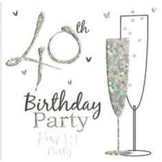 40th Birthday Party Invitation cards