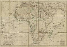 Map of Africa 1829