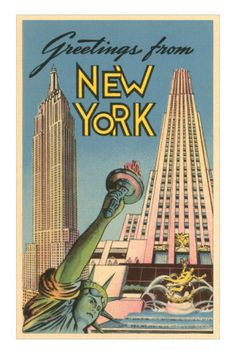 Vintage postcard - Greetings from New York