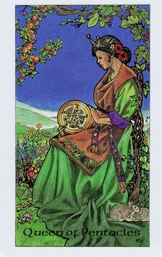Card of the Day:  Queen of Pentacles from Robin Wood Tarot ~ Grounding and healing are the keywords today.  Work on setting your intentions towards keeping yourself focused and productive as there is much to be done in regards to your healing work.  This may take the form of physical, mental or emotional healing but we all have wounds that need attention.  As you heal yourself, you will begin to see how to bring that same attention to others as well to help them.