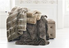 Cream Faux Fur Throw - Curl up into and watch my fav film ♥ Fur Pillow, Pillows, Faux Fur Throw, Winter Warmers, Winter House, Winter Accessories, Animal Prints, Stay Warm, Cosy