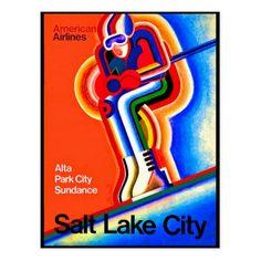 #Salt Lake City Alta ski sport travel postcard - #travel #trip #journey #tour #voyage #vacationtrip #vaction #traveling #travelling #gifts #giftideas #idea