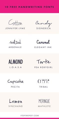 10 Free Handwriting Fonts For Your Creative Projects - PinkPot
