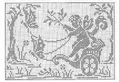 World crochet: Curtain 51 Crochet Patterns Filet, Crochet Curtain Pattern, Crochet Curtains, Cross Stitch Patterns, Crochet Angels, Crochet Art, Crochet Motif, Crochet Doilies, Cross Stitch Angels