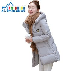 >> Click to Buy << 2016 New Fashion Long Winter Jacket Women Slim Female Coat Thicken Parka Down Cotton Clothing Red Clothing Hooded Student #Affiliate