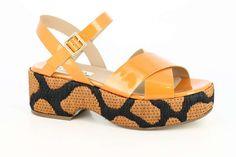 Sandali platform arancio della collezione scarpe Peperosa Primavera/Estate 2017