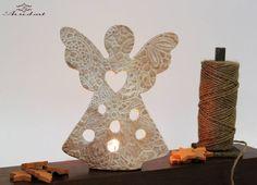 Anticipazioni Natalizie...Angelo porta tea-light in ceramica, linea Romantica…