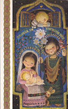 Ara que s'apropa Nadal volen rendir-li un xicotet homenatge a un gran il·lustrador, Joan Ferrándiz , un artista que any rere anys ens h. Vintage Greeting Cards, Vintage Christmas Cards, Vintage Postcards, Christmas Greetings Christian, Christian Christmas, Christmas Nativity, Noel Christmas, Illustrations, Illustration Art
