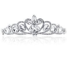 2013 New Crystal Bridal Tiara Rhinestone Wedding Headbands Hair Jewelry Accessories Pageant Quinceanera Tiara Crowns -inHair Jewelr. Quinceanera Tiaras, Bride Tiara, Wedding Dress Accessories, Jewelry Accessories, Jewelry Design, Diamond Tiara, Wedding Dresses With Flowers, Princess Wedding, Princess Crowns