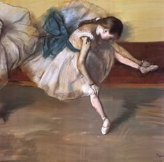 Danseuse Au Repos Art Print by Edgar Degas. I would like to own a Dega painting.