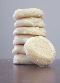 Christmas Cookie Exchange: Soft Almond Sugar Cookies. Blogger says these are the best cookies she has ever made.