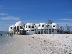 abandoned beach house at Romano Beach, Florida.