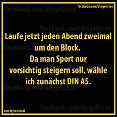 >>   Sport ist gesund >>