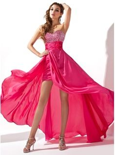 A-Line/Princess Sweetheart Asymmetrical Chiffon Prom Dress With Ruffle Beading Flower Sequins -this is beautiful!!!!