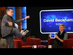 "Robin Williams playing ""Heads Up!"" with Ellen DeGeneres https://itunes.apple.com/us/app/heads-up%21/id623592465"