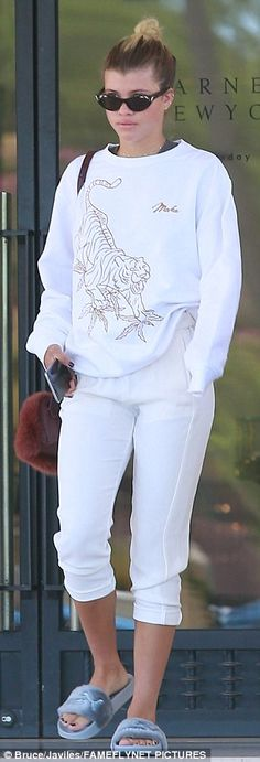 Dip into the sports luxe trend with an embroidered sweatshirt like Sofia. Click 'Visit' to buy now. #DailyMail