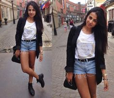 Melina's Structured Street Look