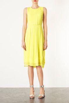 Poppy Midi Dress | yellow bridesmaid dress www.happilywedding.com