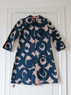 Marimekko custom made vintage dress 1960s / Finland Scandinavian design.