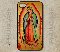 Our Lady of Guadalupe Roman Catholic Icon Virgin Mary Mexican Case <<>> Apple iPhone 4, iPhone 4S, iPhone 5, iPhone 5S & iPhone 5C Cases