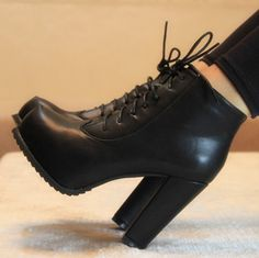 Winter Boots with Heels   2013 women's winter shoes single shoes high-heeled shoes thick heel