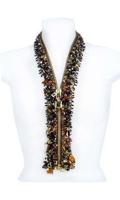Necklace | Patricia Kraemer.  Zipper with Swarovski Elements.