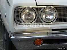 Weißer amerikanischer Dodge Coronet der Sechziger Jahre in Wettenberg Krofdorf-Gleiberg