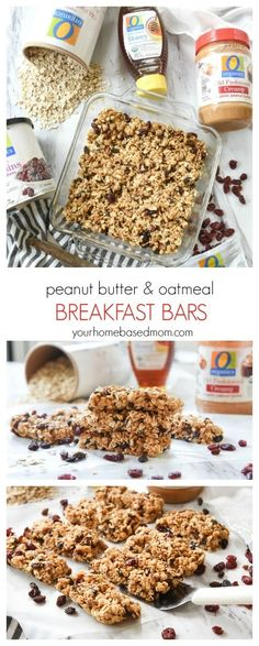 Looking for a quick, easy, delicious and nutritious way to get the kids to eat breakfast? These Peanut Butter and Oatmeal Breakfast Bars are the perfect solution.