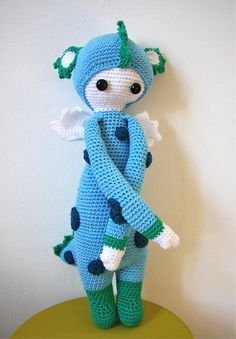 Drache Jona lalylala Puppe von maedchenstern auf DaWanda.com