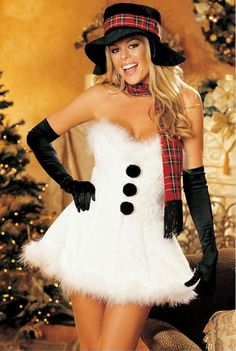 Have a very sexy Christmas! We have a tremendous variety of sexy Christmas party costumes, and holiday lingerie sets that will heat up the winter holidays! Sexy Christmas Outfit, White Christmas Dress, Christmas Christmas, Christmas Scenes, Holiday Costumes, Best Friend Halloween Costumes, Group Halloween, Easy Halloween, Halloween Party