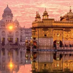 The Golden Temple in Amritsar, India Places Around The World, The Places Youll Go, Places To See, Around The Worlds, Temple D'or, Temple India, Beautiful World, Beautiful Places, Amazing Places