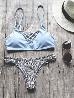 BILLABONG knappe Bikinihose im Streifen-Look Badehose Schwimm-Slip Grün Sommer